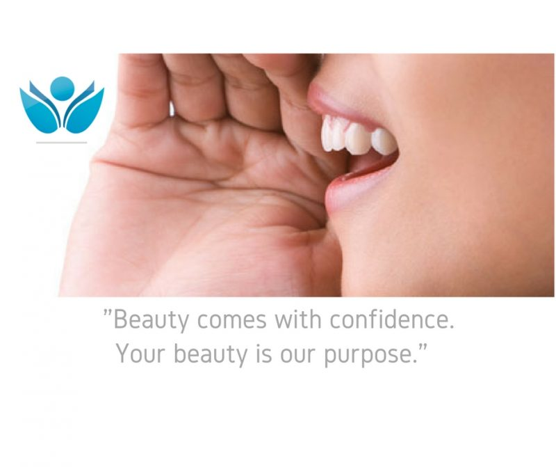 Beauty comes with confidence