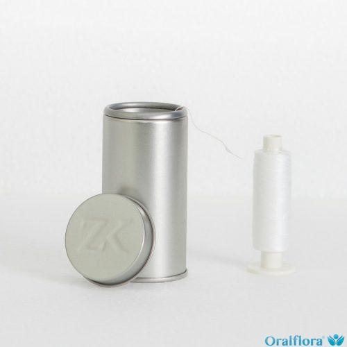 Zahnseidenkampagne PTFE Premium Zahnseide ungewachst (2 x 500 m Spule + Spender)