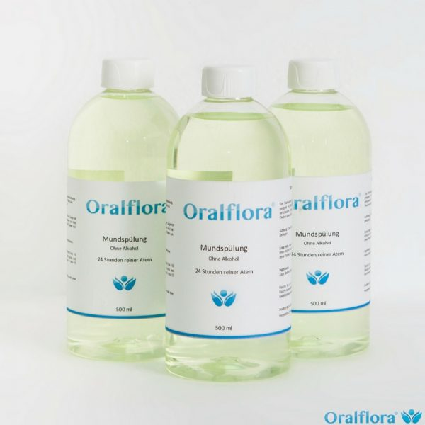 3x Oralflora® Mundwasser - 500ml