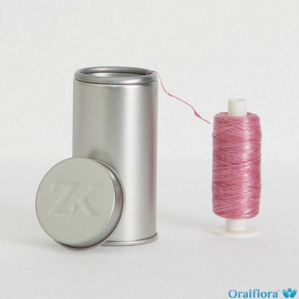 Spender + 200 m Rosa Polyester Gewachst
